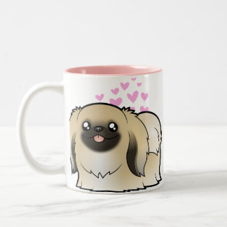 Pekingese Love (show cut) Two-Tone Coffee Mug