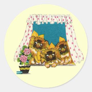 Pekingese Love Stickers
