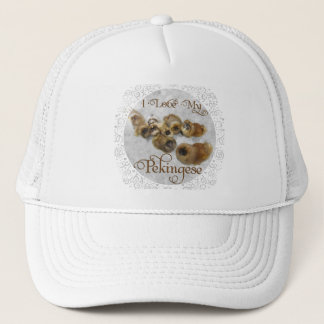 Pekingese Love Trucker Hat