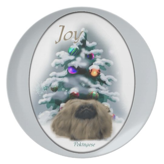 Pekingese Lovers Christmas Dinner Plate