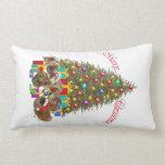 Pekingese Merry Christmas Throw Pillow