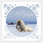 Pekingese O Holy Night Square Sticker