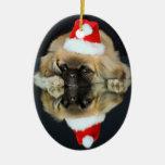 Pekingese Photo Christmas Ornament