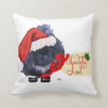 Pekingese Pup Christmas Throw Pillow