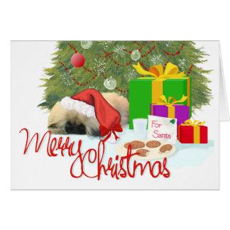 Pekingese Puppy 1st Christmas Greeting Cards