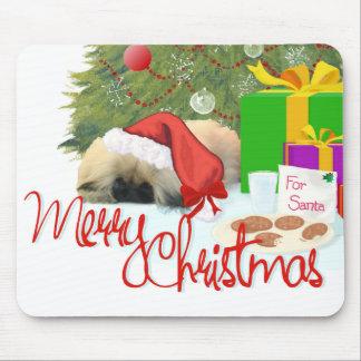 Pekingese Puppy 1st Christmas Mouse Pad