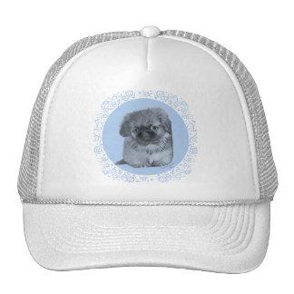 Pekingese Puppy Blue Trucker Hat
