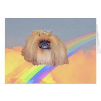 Pekingese Rainbow Card