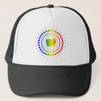 Pekingese Rainbow Studs Trucker Hat