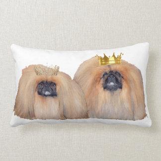 Pekingese Rule My World Throw Pillows