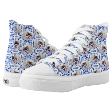 Beach Themed Pekingese Sailor High-Top Sneakers