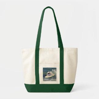Pekingese Sailor Tote Canvas Bag