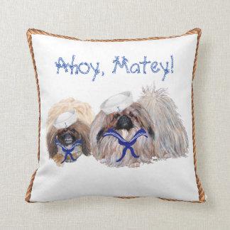 Pekingese Sailors Throw Pillow