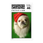 Pekingese Santa Claus! Postage Stamp