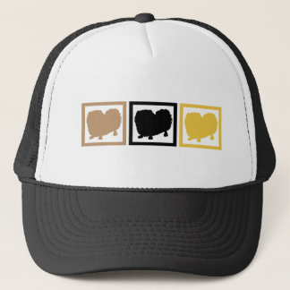 Pekingese Squares Trucker Hat