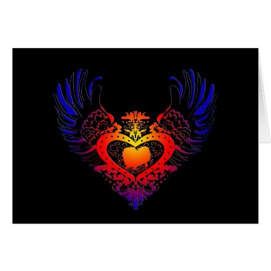 Pekingese Winged Heart Card