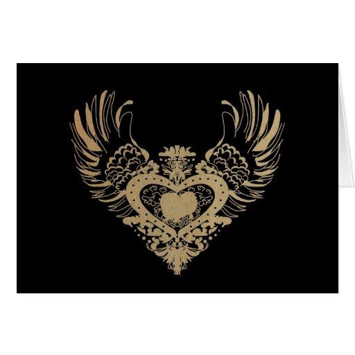 Pekingese Winged Heart Greeting Card