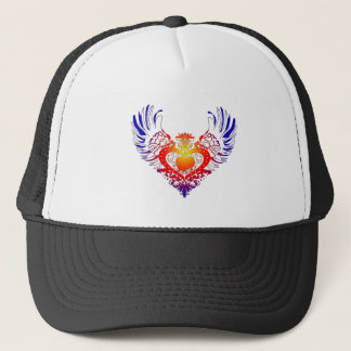 Pekingese Winged Heart Trucker Hat