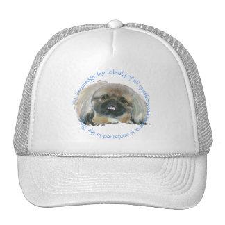 Pekingese Wisdom - All Knowledge in the Dog Trucker Hat