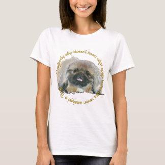 Pekingese Wisdom - Bathing your Dog T-Shirt