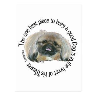Pekingese Wisdom - Dog in the heart of its Master Postcard
