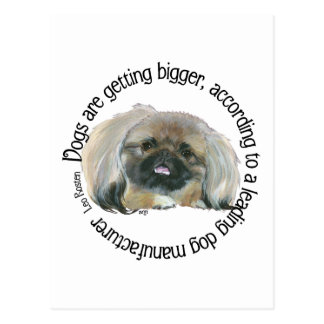 Pekingese Wisdom - Dogs are Getting Bigger Postcard