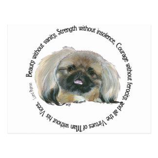Pekingese Wisdom - Lord Byron's Praise Postcard