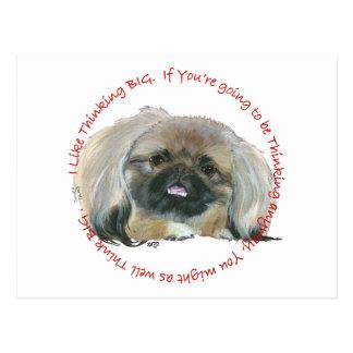 Pekingese Wisdom - Thinking BIG Postcards