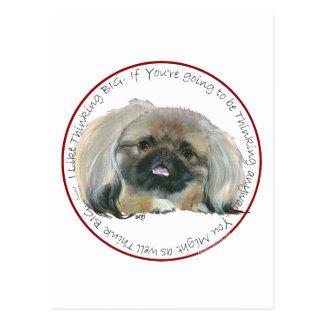 Pekingese Wisdom - Thinking BIG Post Cards