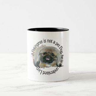Pekingese Wisdom - Undersized Lion ! Two-Tone Coffee Mug