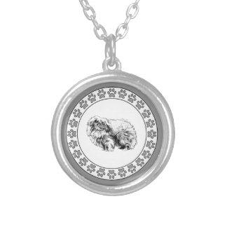 Pekingese with Pawprints Custom Jewelry