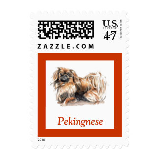 Pekingnese Dog Postage Stamp for Letters