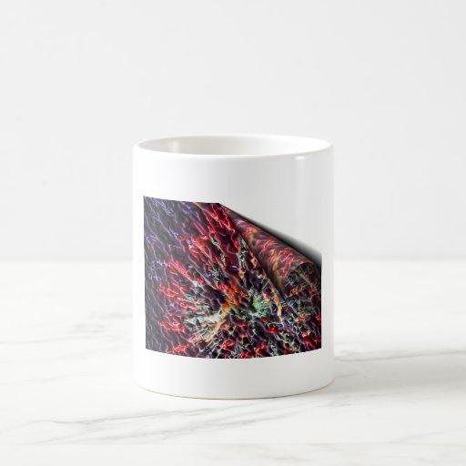 Peladura de la imagen del fractal taza de café