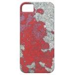 Peladura de la pintura roja contra el cemento iPhone 5 Case-Mate protector