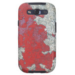 Peladura de la pintura roja contra el cemento samsung galaxy s3 coberturas