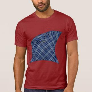 Peladura de la tela escocesa azul camisetas