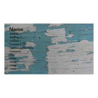 Peladura de las pinturas azules y blancas tarjetas de visita