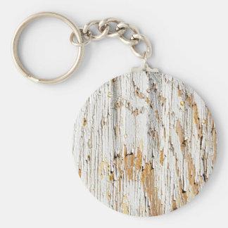 Peladura del extracto blanco de la pintura llavero redondo tipo pin