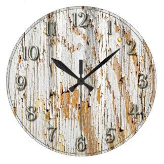 Peladura del extracto blanco de la pintura relojes de pared