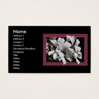 Pelargonium Business Card