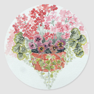 Pelargonium  & Ivy Sticker