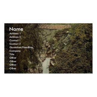 Pele, la cascada de Helen de la cañada, isla del h Plantilla De Tarjeta De Negocio