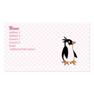 Pele penguin business card