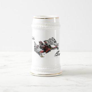 Pelea de Gallos Jarra De Cerveza
