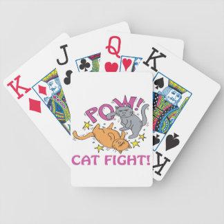 Pelea de gatos baraja de cartas