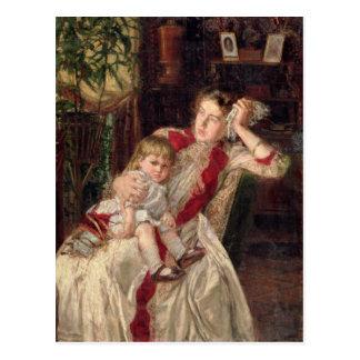 Pelea de la familia, 1890 tarjeta postal