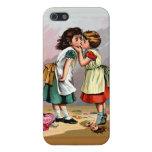 Pelea de la muñeca de las niñas del vintage iPhone 5 funda