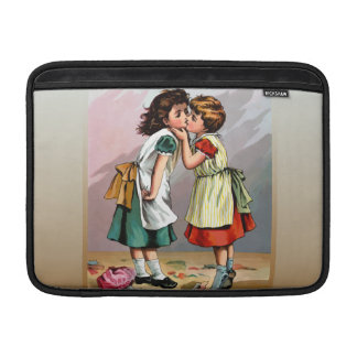 Pelea de la muñeca de las niñas del vintage fundas MacBook