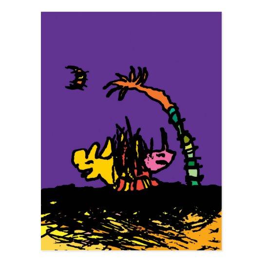 Pelea de Perros Postcard