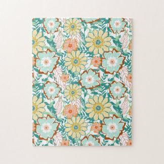 Pelea floral puzzles con fotos